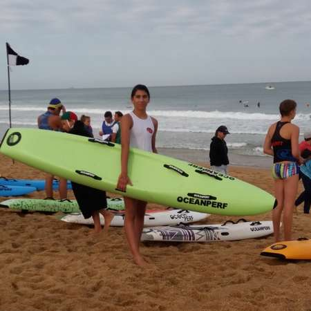 Mathias BRESEGHELLO participe à l'Ocean Perf Challenge, une compétition de sauvetage sportf à dimension internationale, à Capbreton (11/08/2018)  Crédit photo : Véronique B.